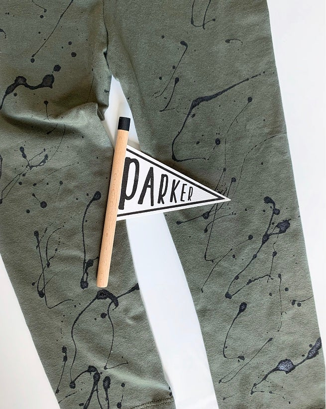 Image of Khaki Splat Leggings