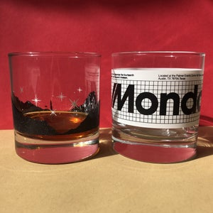 "Image of Mondocon 5 ""Lagoon"" and ""Mission"" Whiskey glass set."