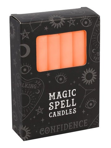 Image of CONFIDENCE Spell Candles ORANGE (12)