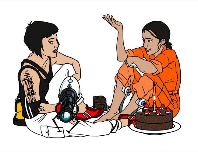 Image of Faith and Chell chat