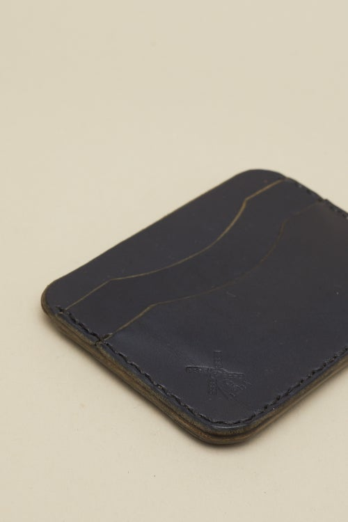 Image of Double Card Holder in Navy