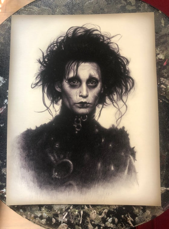 Image of 'EDWARD SCISSORHANDS' - Ultra Premium Fine Art Sticker