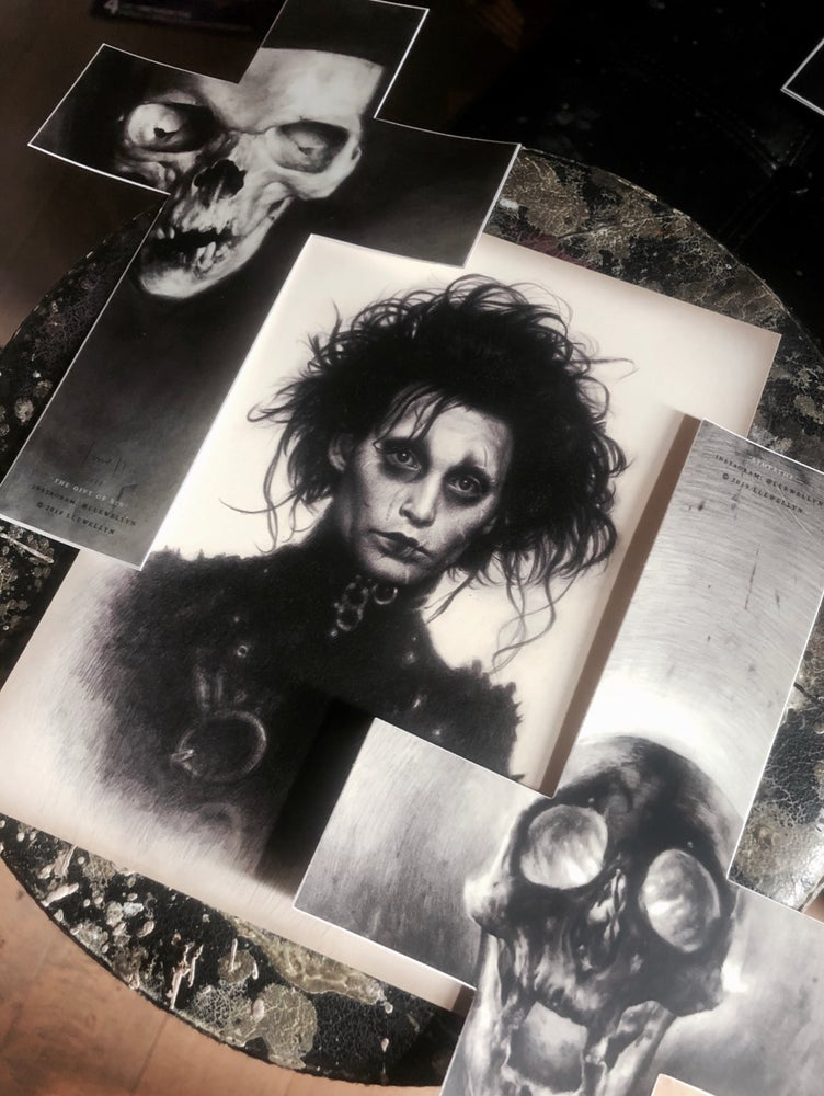 Image of [ Set I ] - The Gift of Sin | Edward Scissorhands | Sympathy Ultra Premium Fine Art Stickers