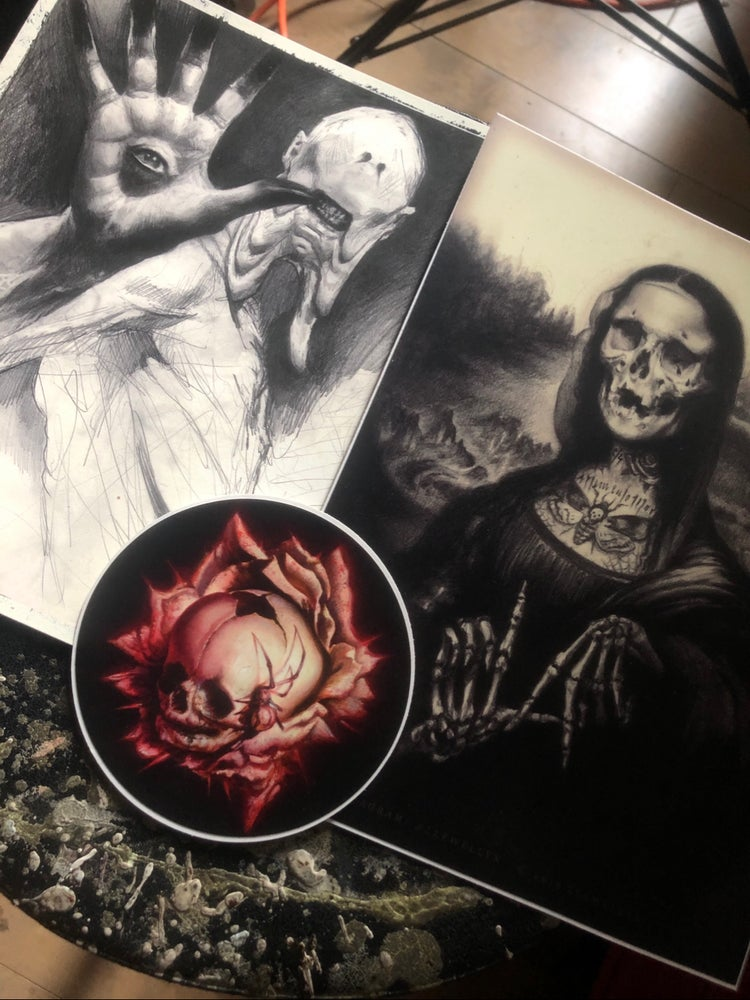 Image of [ Set II ] - Mona Lisa | The Pale Man | Die, Die, Die My Darling - Ultra Premium Fine Art Stickers
