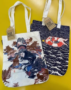 Image of tote bags from Fully Booked