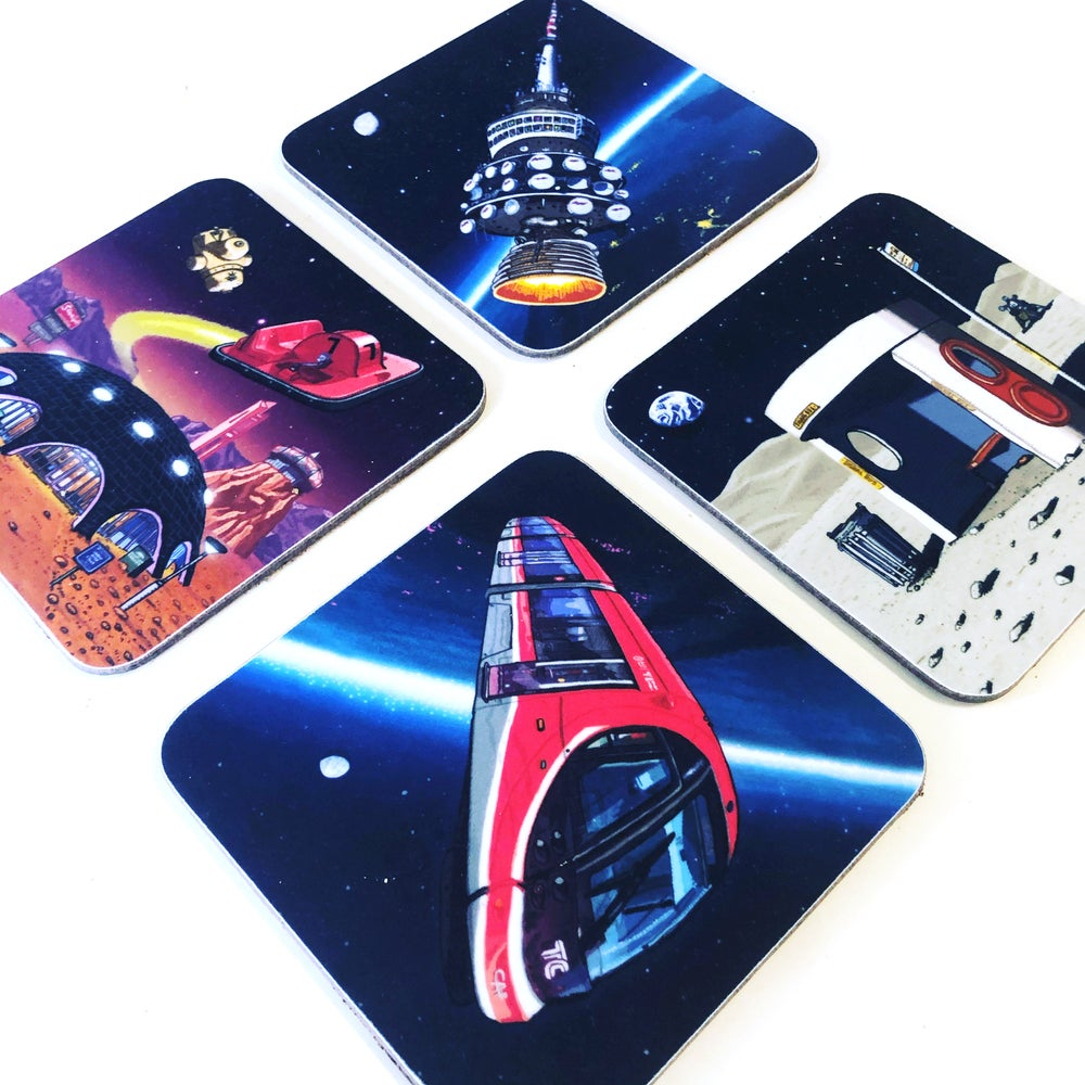 Image of Four Canberra Space Coasters - Pre-order