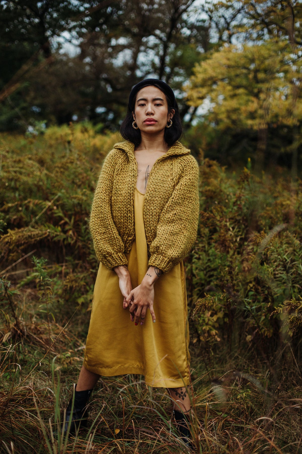 Image of Nanaimo Cardigan in Ochre (more colours)