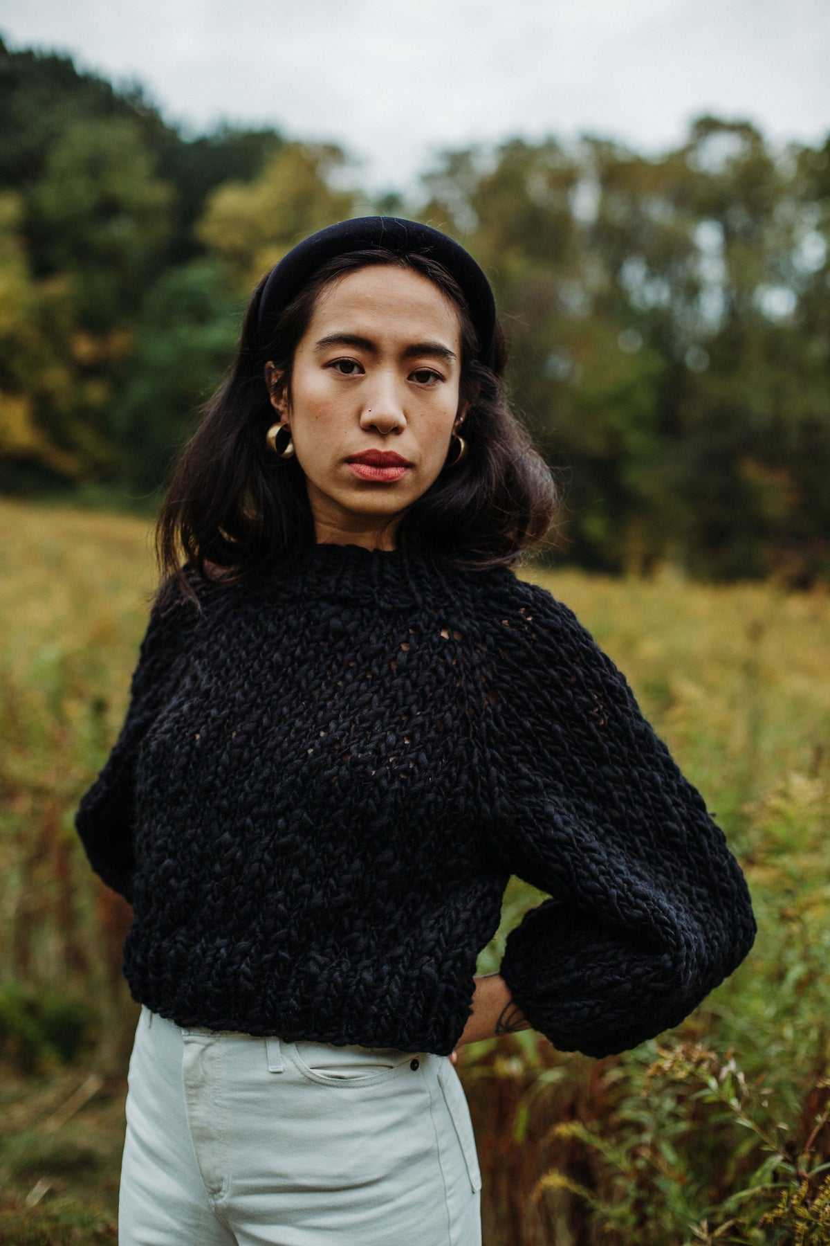 Image of Frid Sweater LIMITED in Merino hand spun wool (in black)