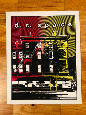 Image of DC Space Silk Screened Art Print Poster - Sunrise Fade Edition