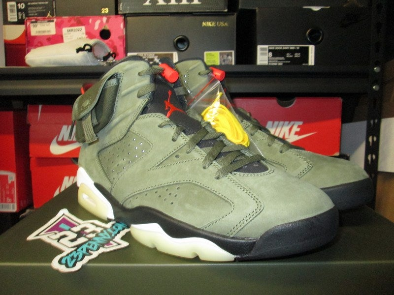 "Image of Air Jordan VI (6) Retro SP x Travis Scott ""Medium Olive"""