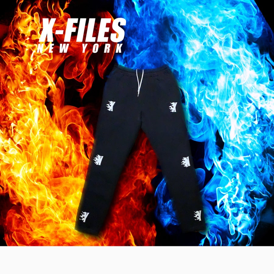Image of XNY FLAME LOGO SWEATPANTS (WHITE FLAME)