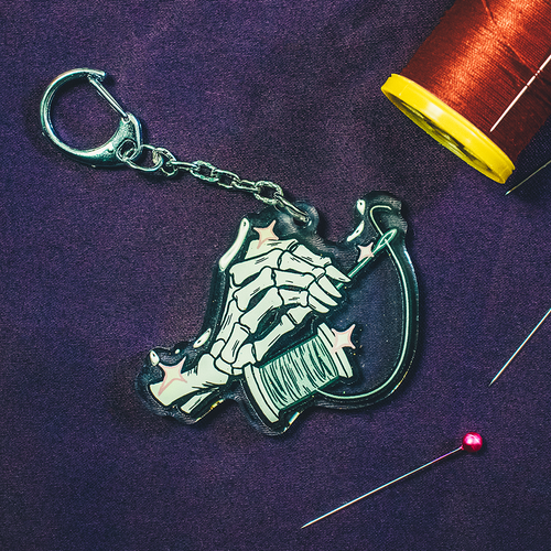 Image of Sewing Skeleton Charms by @CuchintaChan