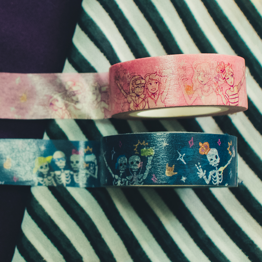 Image of Selfie X Skelfie Washi Tapes Collab with @CuchintaChan
