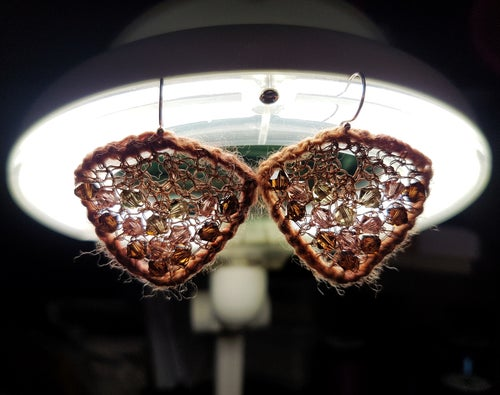 Image of MOTH EARRINGS - Autumn