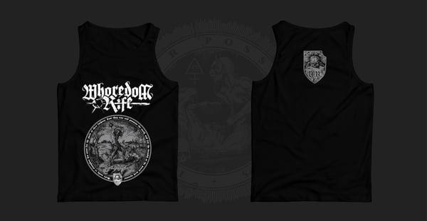 Image of WHOREDOM RIFE - black Wifebeater Shirt