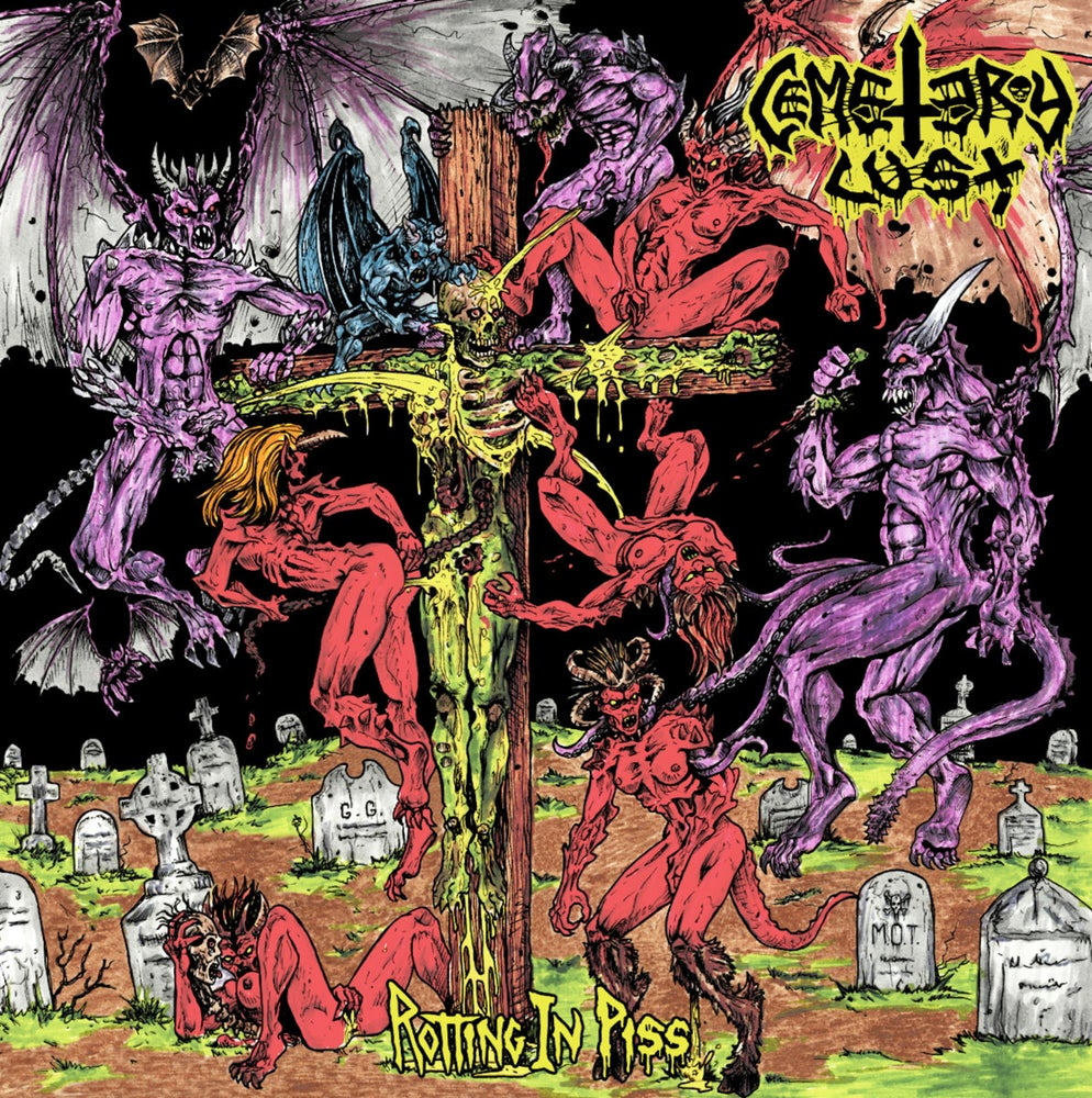 "Image of Cemetery Lust ""Rotting In Piss"" LP"