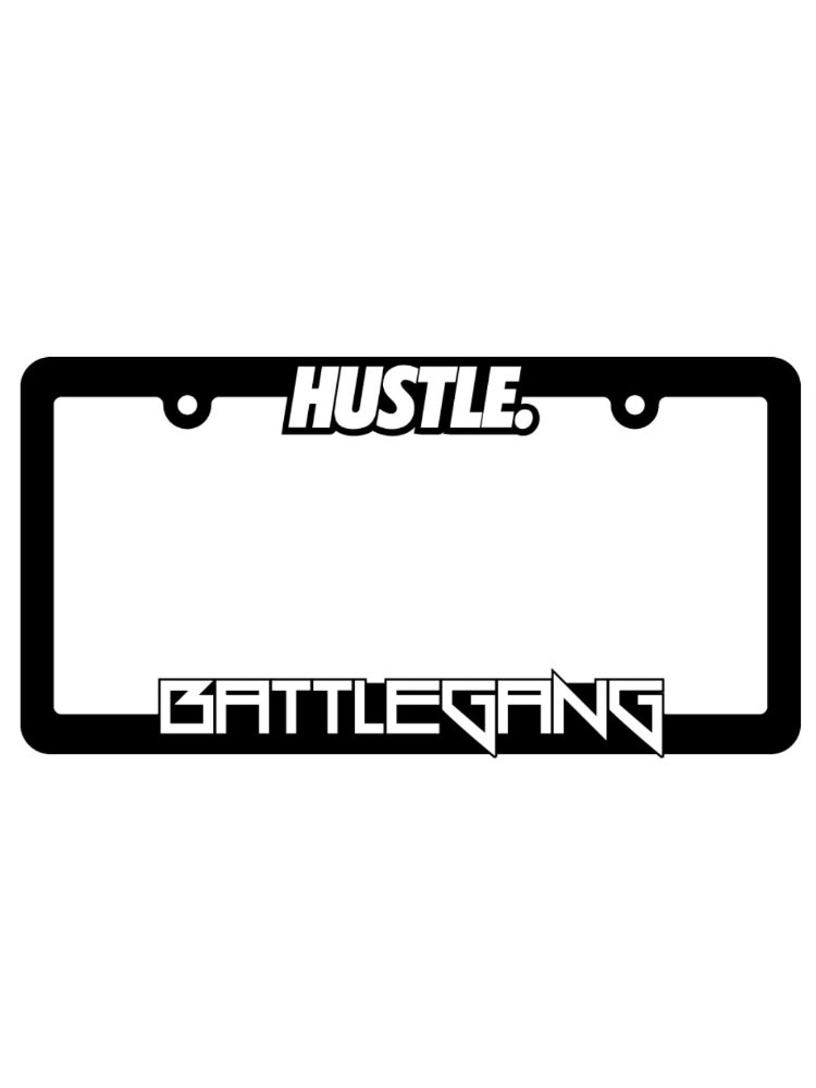 Image of Hustle License Plate Frame