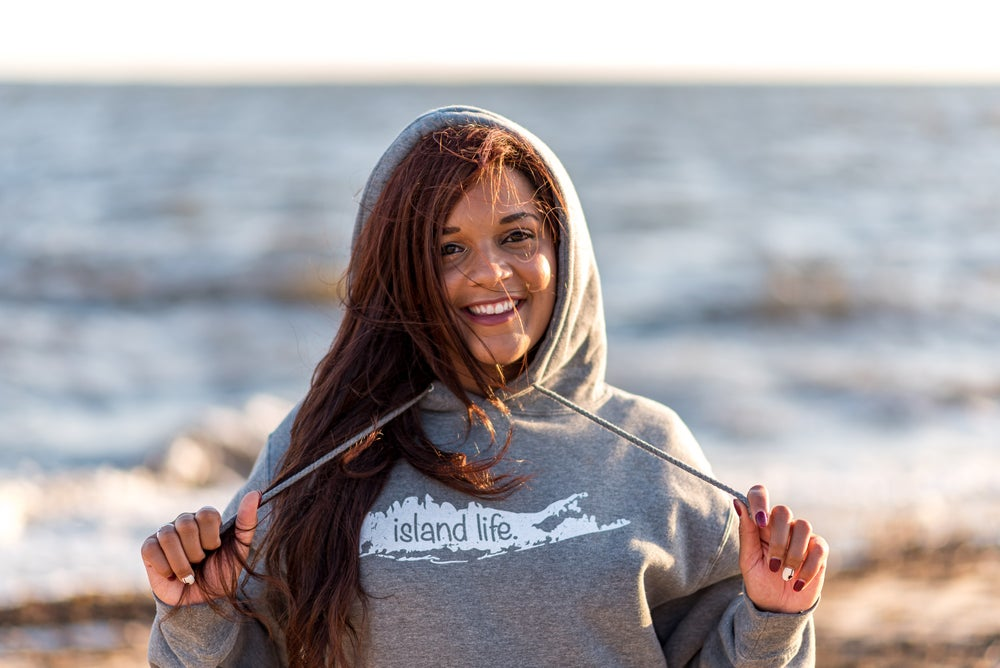 Image of Island Life Logo Pullover Hoodie - Grey