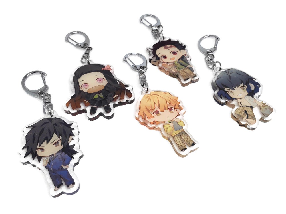 Image of Kimetsu no Yaiba School AU Acrylic Charms