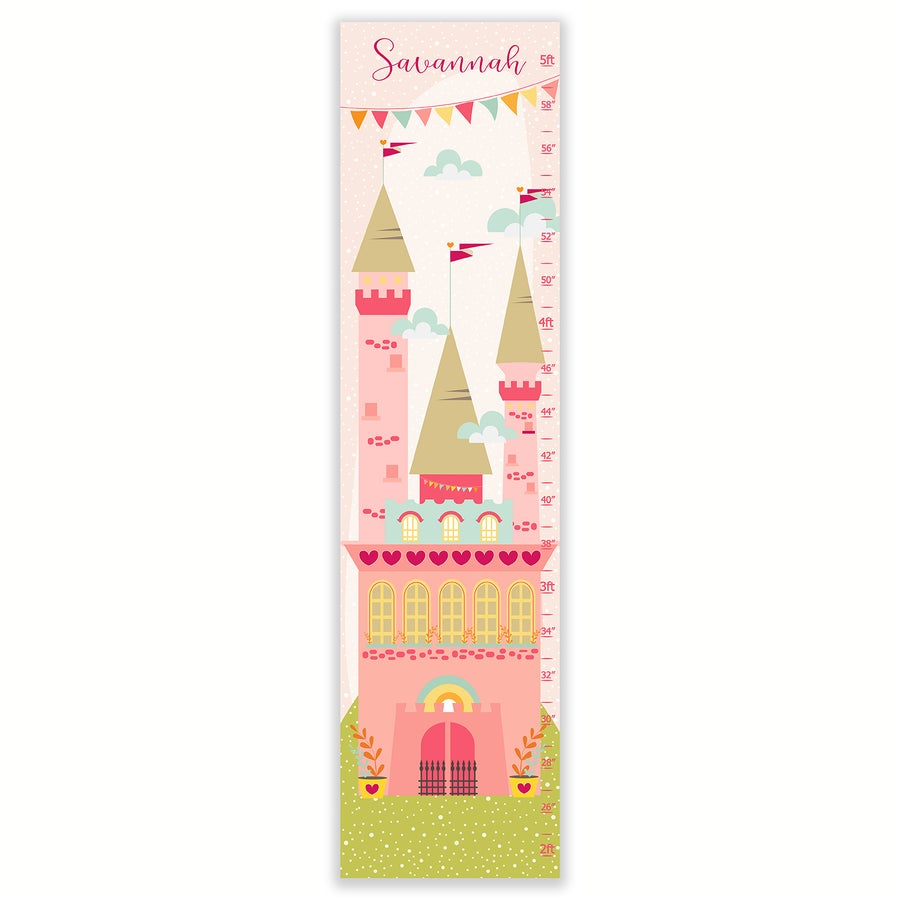 Image of Princess Castle - Personalized Canvas Growth Chart
