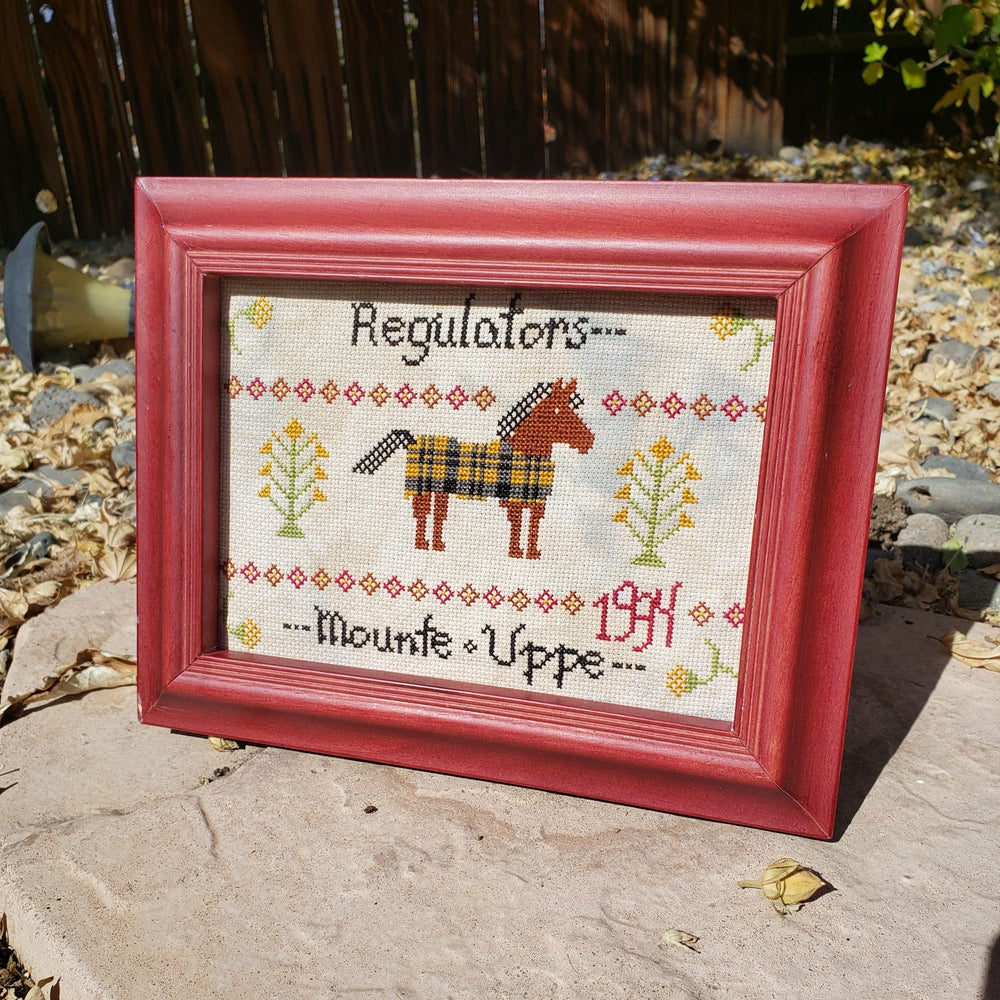 Image of Regulators Primitive Cross Stitch - PATTERN PDF