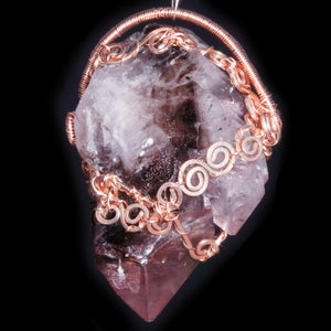 Image of Melody's Stone ET Crystal Point Handmade Filigree Pendant