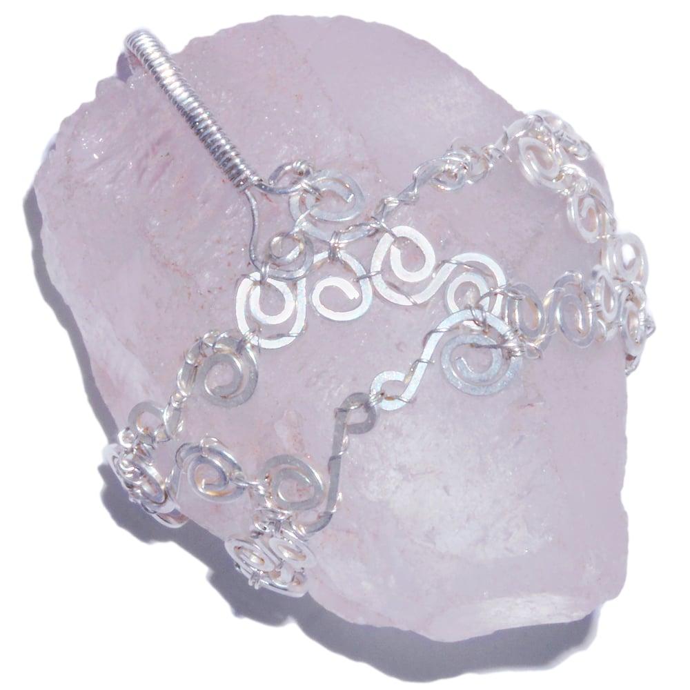 Image of Nirvana Quartz Crystal Handmade Sterling Filigree Pendant