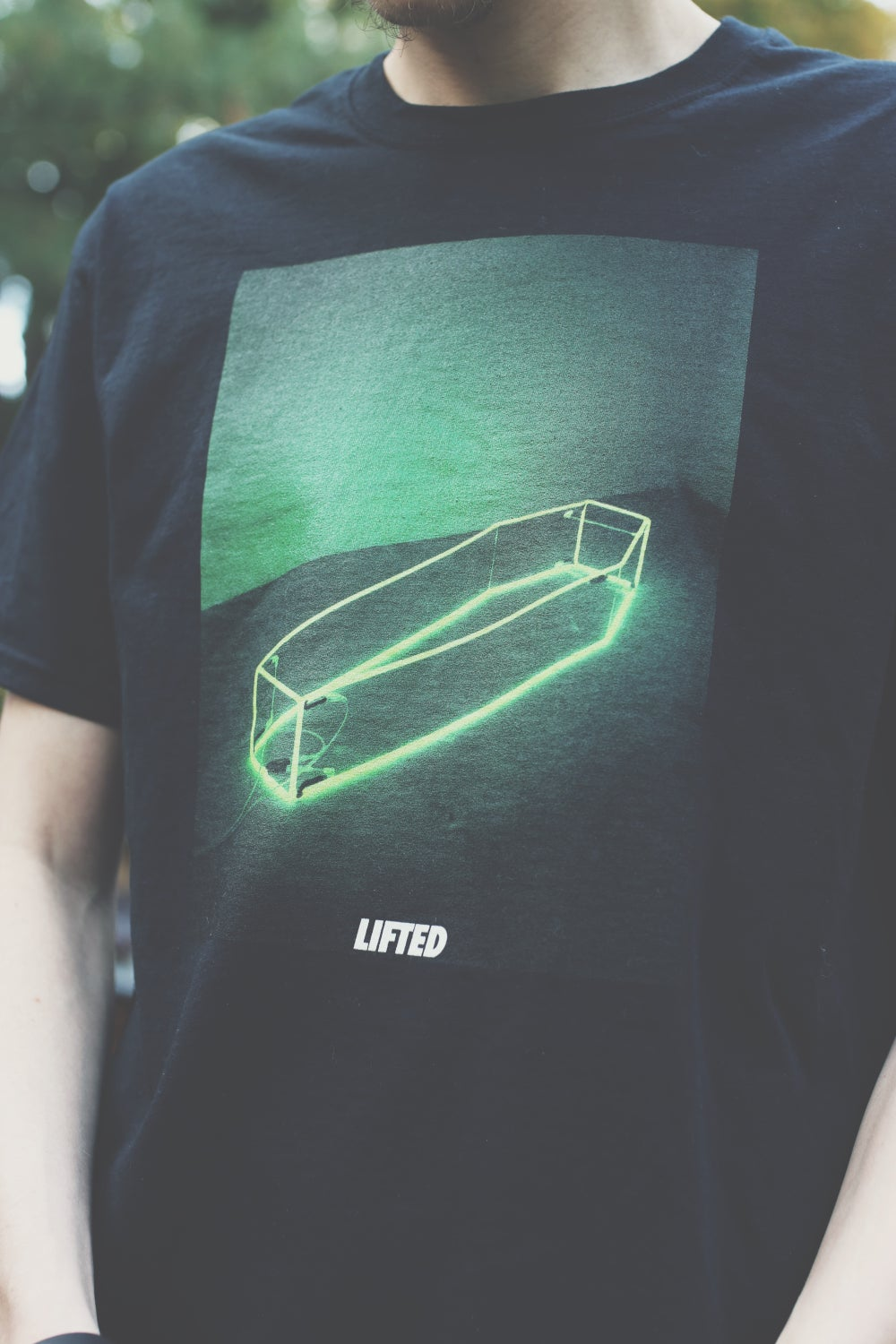 Image of Neon Green Coffin Tee