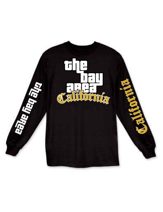 Image of The Bay Area GTA LongSleeve Gold Edition (black)