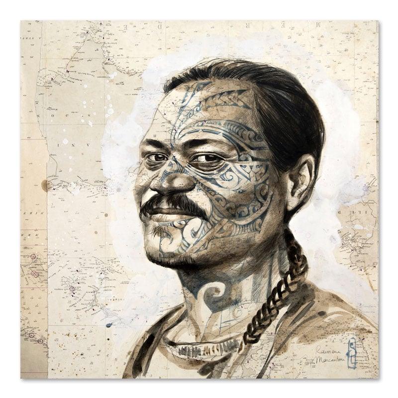 "Image of Original painting - ""Raimana"" - 50x50 cm"