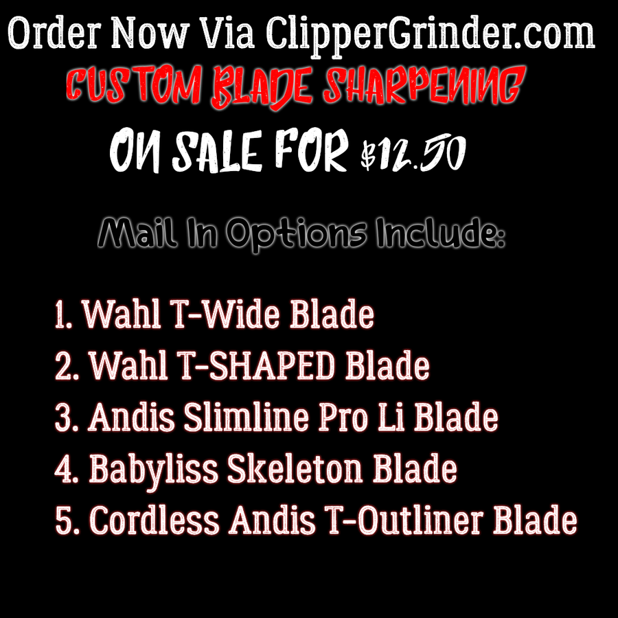 Image of (3 Week Delivery/High Order Volume) Trimmer Blade Sharpening
