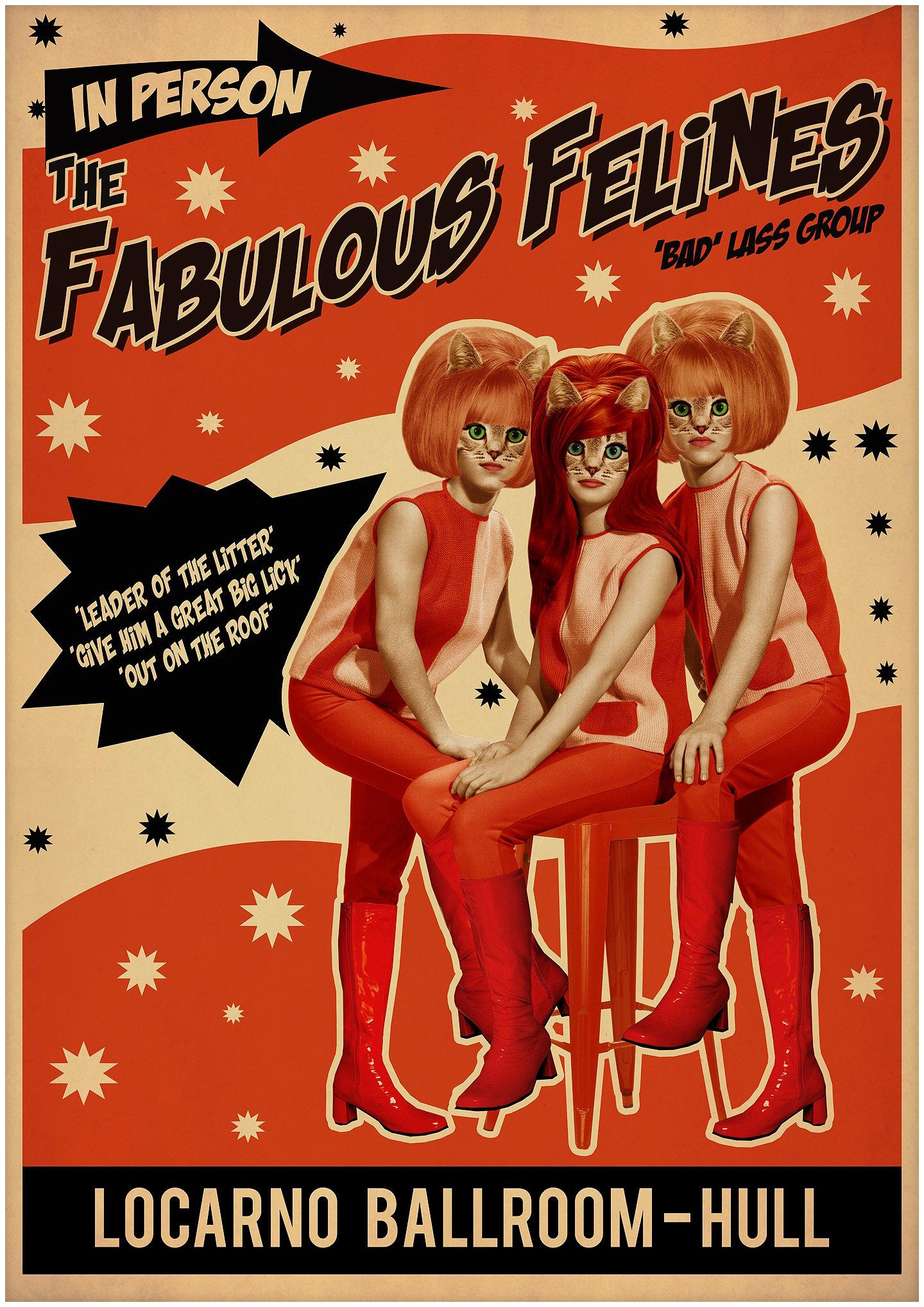 Image of Fabulous Felines Poster Print