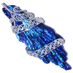 Image of Bird's Wing Aura Kyanite Handmade Pendant