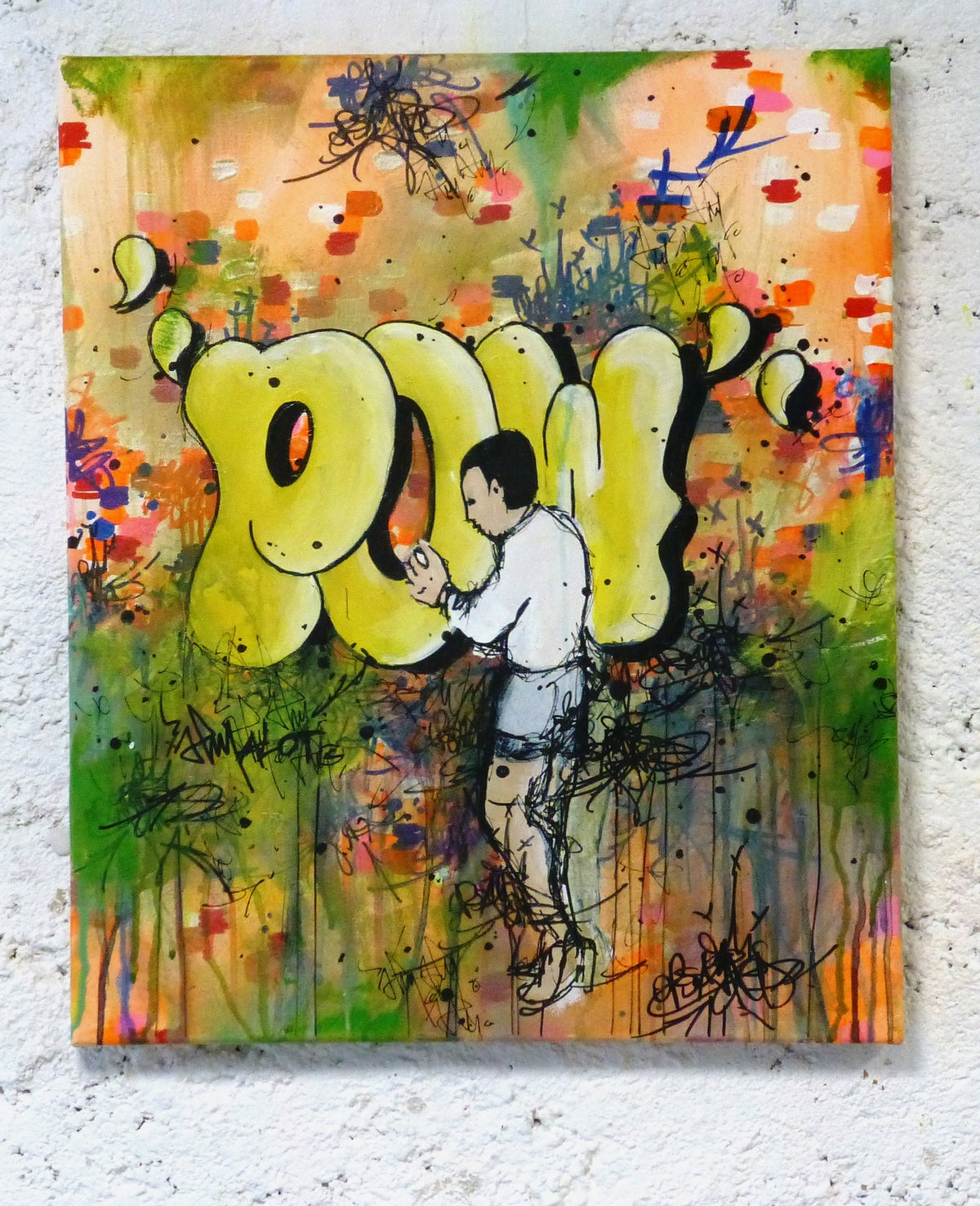 Image of POW!  Original painting on canvas 55x46 cm