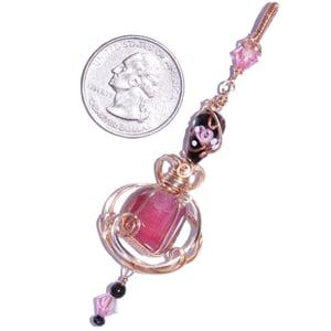 Image of Rough Pink Tourmaline Crystal Handmade Pendant