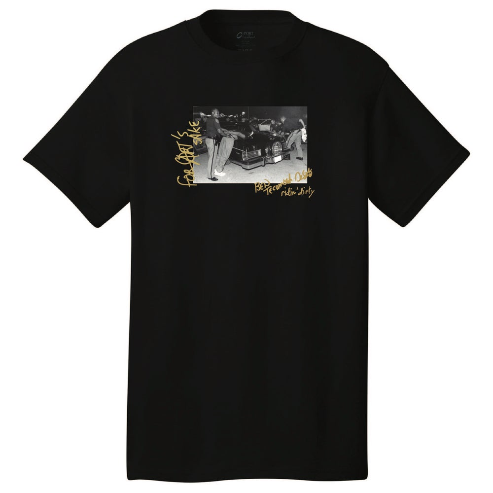 Image of POPPED IN THE PARKING LOT BLACK TEE