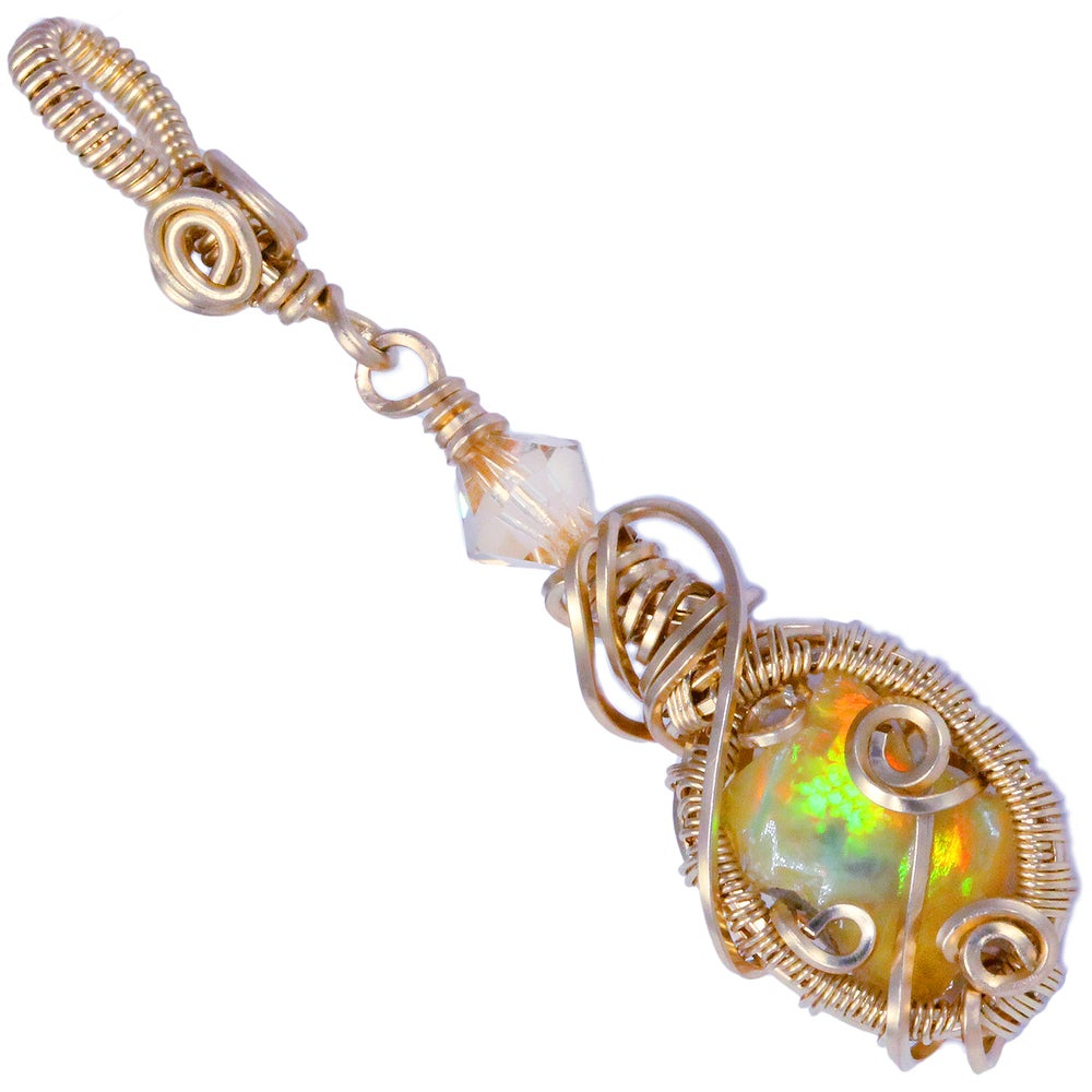 Image of Ethiopian Opal Handmade Gold Filled Pendant