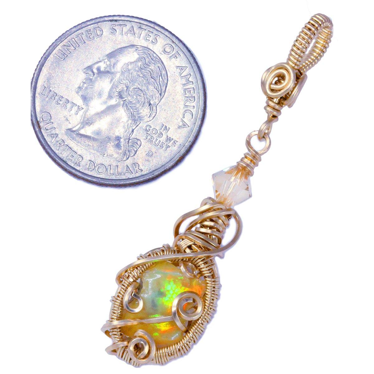 Ethiopian Opal Handmade Gold Filled Pendant