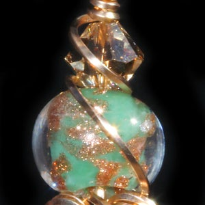 Image of Unakite Handmade Wire Wrapped Pendant