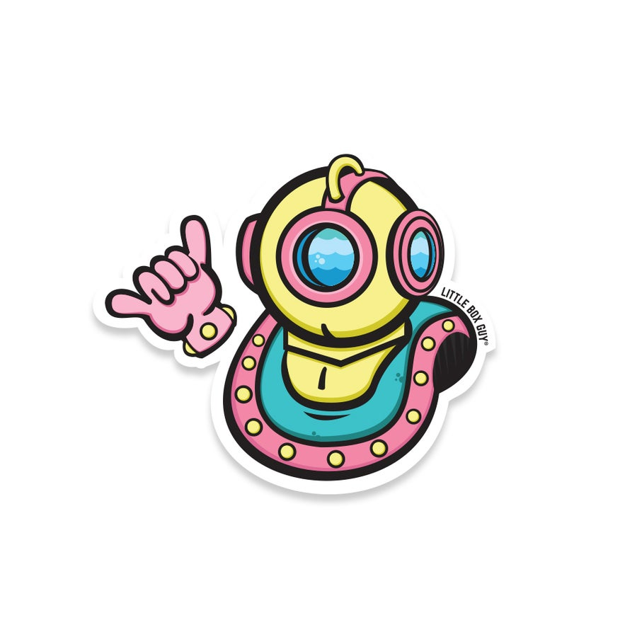 Image of Scuba 'Shaka' (Die-Cut Sticker)