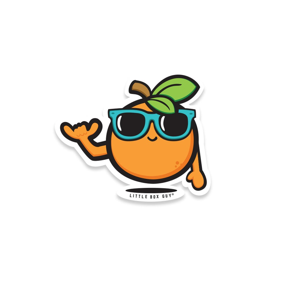 Image of Orange 'Shaka' (Die-Cut Sticker)