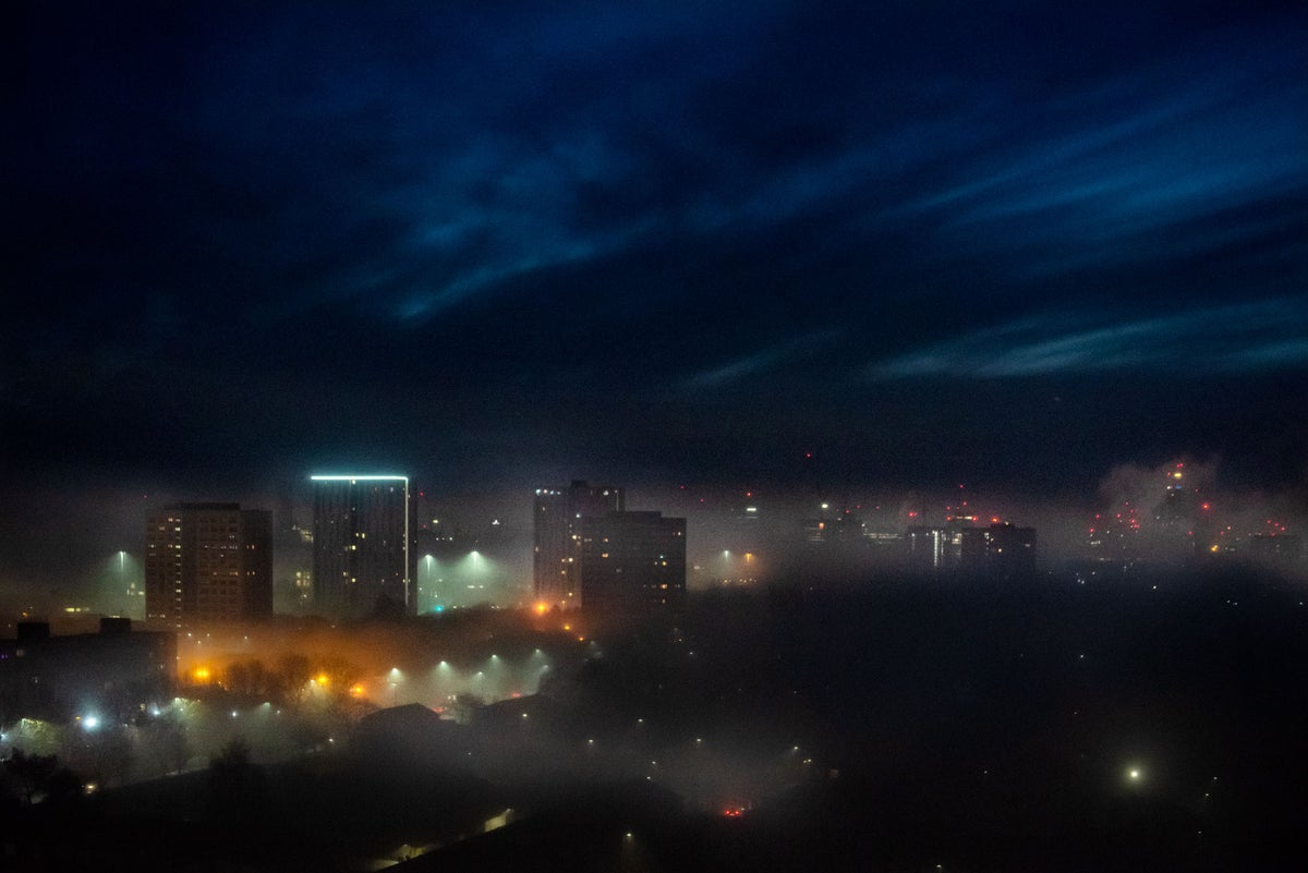 Image of SALFORD, TOWARDS MANCHESTER, EARLY DAWN