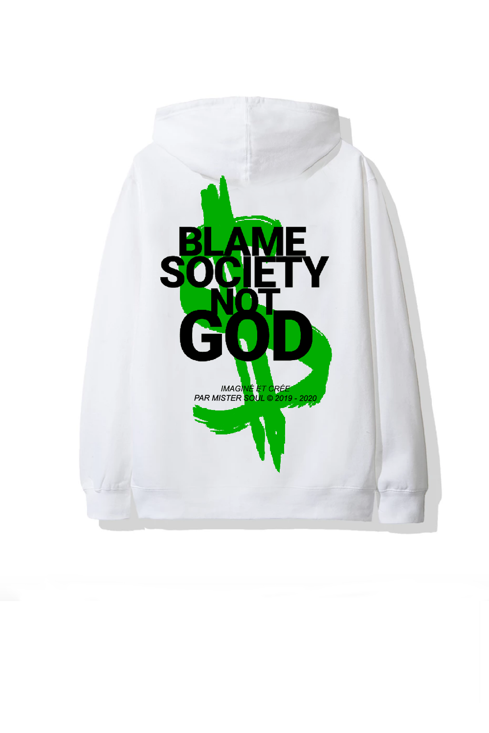 Image of MONEY BSNG WHITE HOODIE