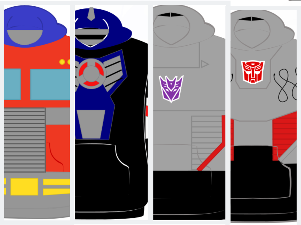 Image of Optimus Prime/Primal and Megatron hoodie