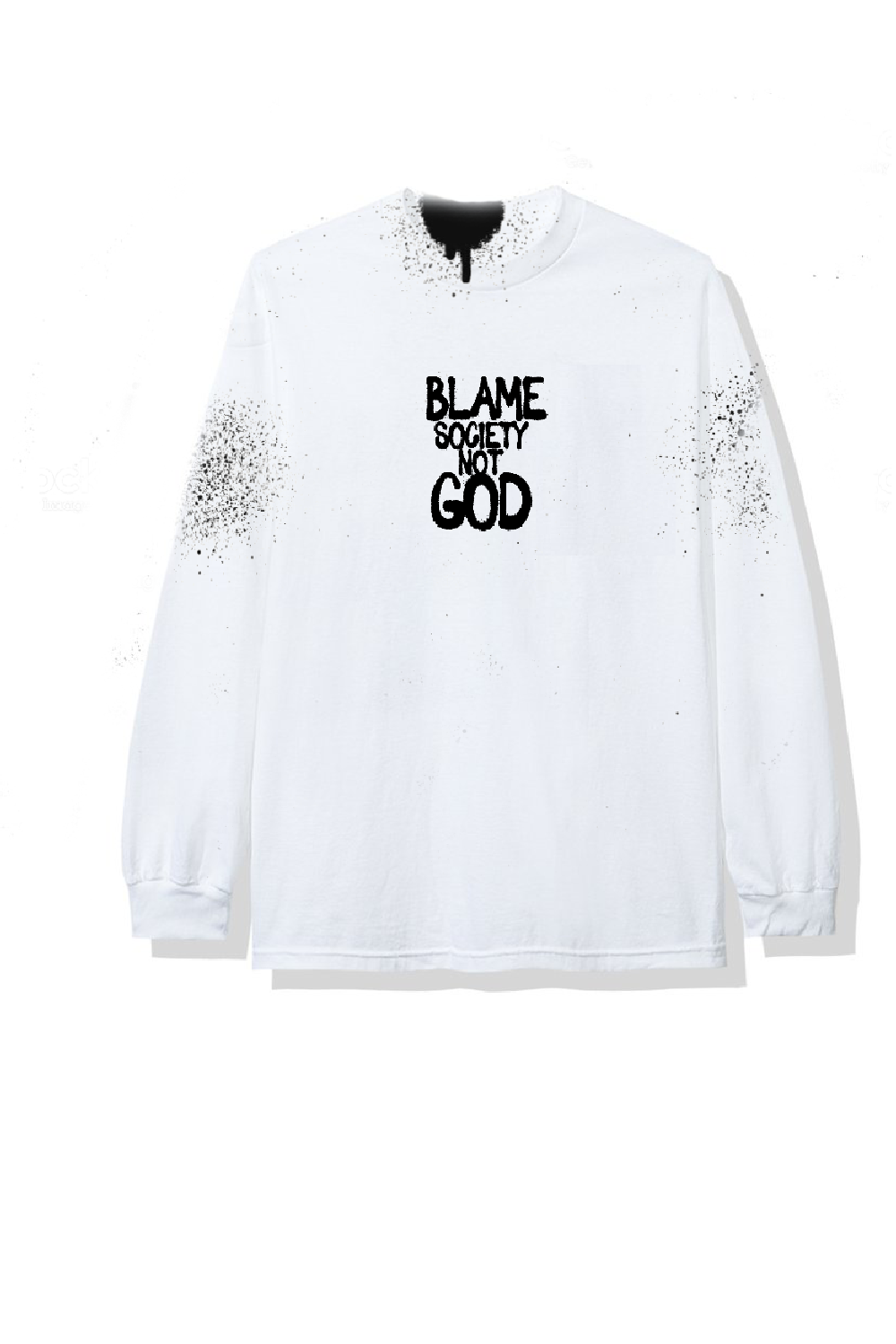 Image of TAG BLAME SOCIETY WHITET-SHIRT LONGSLEEVES