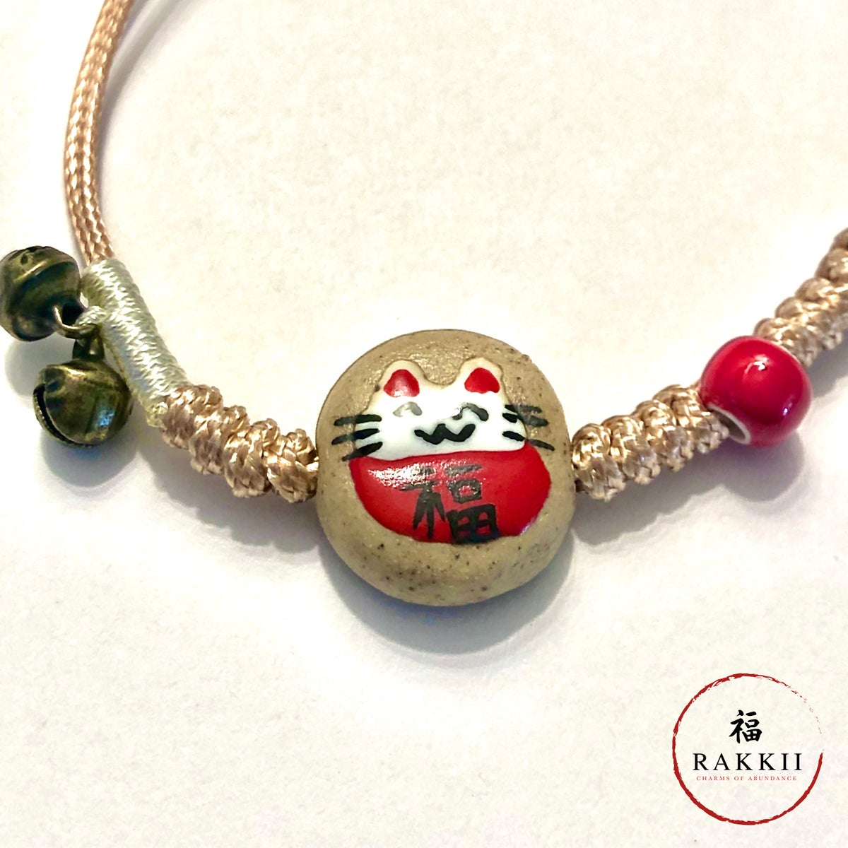 "Image of RAKKII ""Meaneki Neko on Stone"" BRACELET"