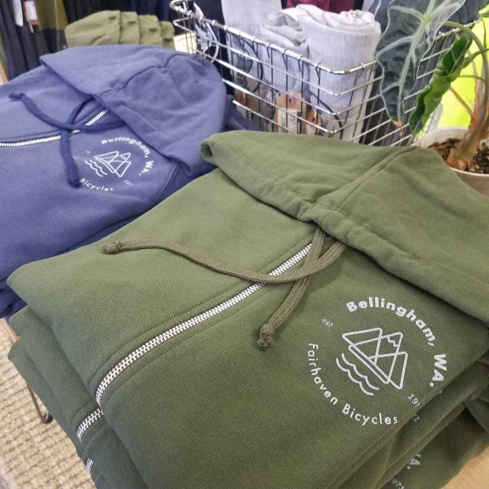 Image of Fairhaven Bicycles x Bellingham,  WA French Terry Hoodie