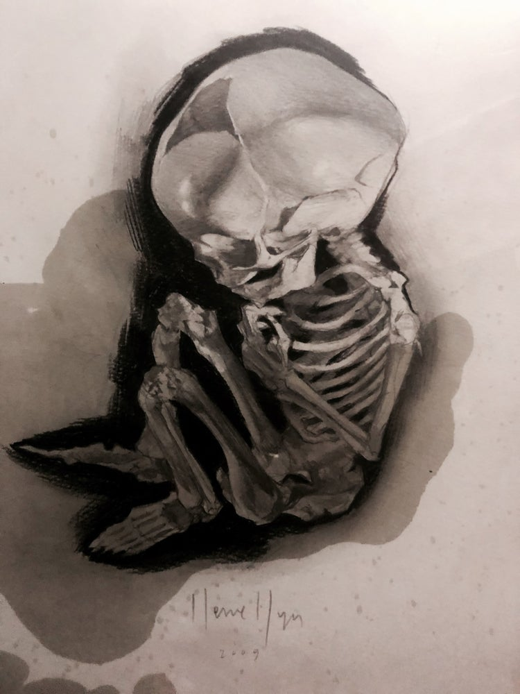 Image of 'FOETAL SKELETON' - Original Artwork