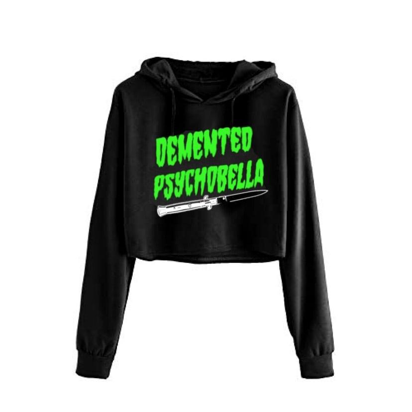Image of Demented Psychobella Cropped Hoodie
