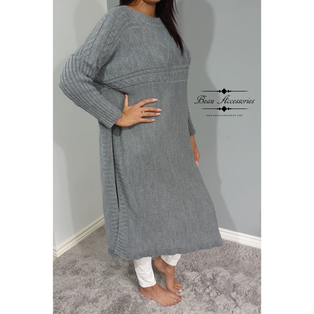 Image of Poncho Midaxi Jumper Dress